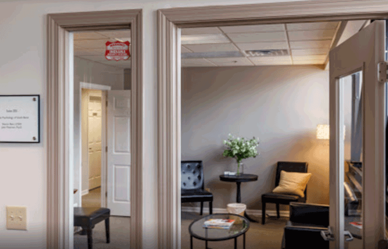 Interior image of office at Family Psychology of South Bend