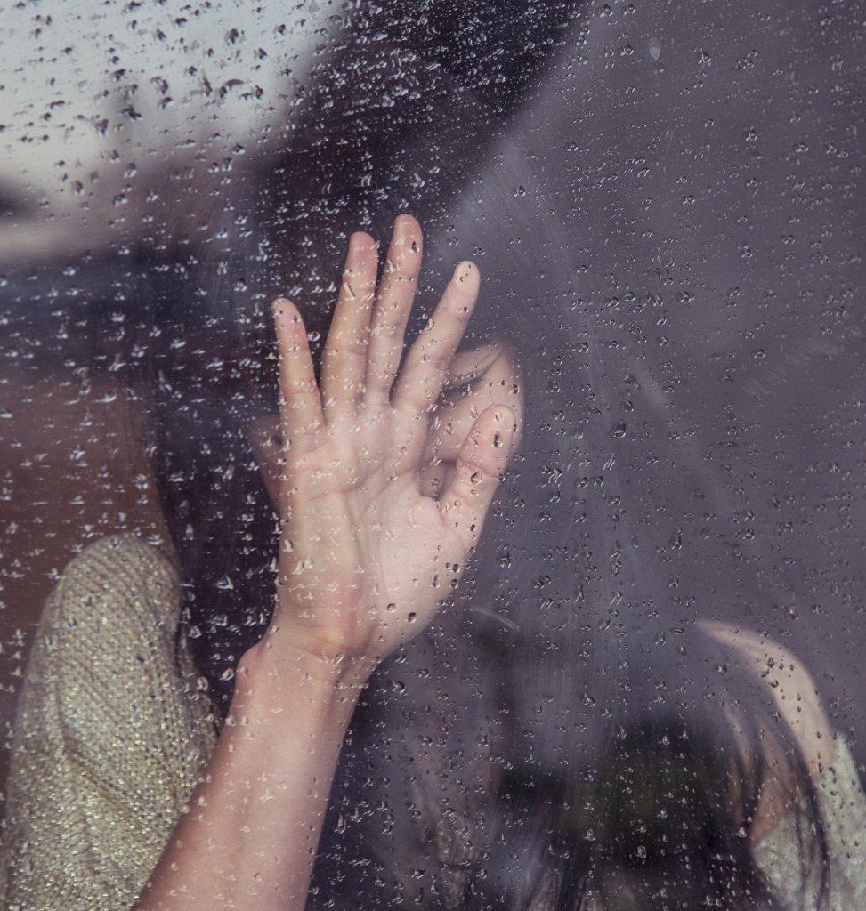 Sad girl with anxiety